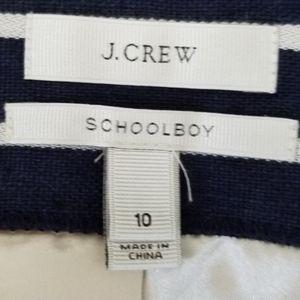 J. Crew Jackets & Coats - J. Crew Schoolboy Navy and White Striped Blazer